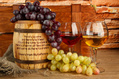 1033_ - Wine Barrel, Grapes and Glasses