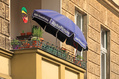753_ - Umbrella on Balcony