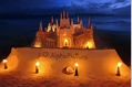 799_ - Candle-lit Sandcastle