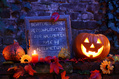 484_ - Blackboard With Halloween Pumpkin