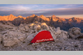 967_ - Tent on Rocky Mountain Range