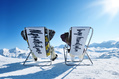 981_ - Chairs in Snowy Mountains